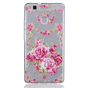 Embossed Thin TPU Protector Shell for Huawei P9 Lite / G9 Lite - Fresh Flower