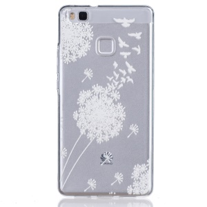 Embossed Thin TPU Shell Case for Huawei P9 Lite / G9 Lite - Dandelion and Birds