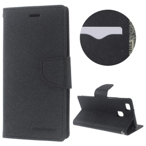 MERCURY GOOSPERY Fancy Diary Leather Case for Huawei P9 Lite / G9 Lite - Black