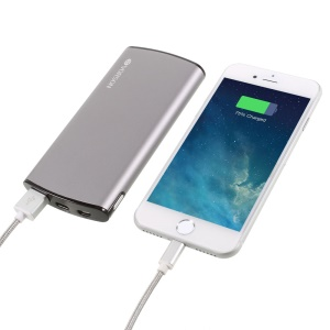 VORSON VY-016 8000mAh QC 3.0 Dual Outputs Power Bank for iPhone Samsung Huawei - Grey