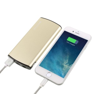 VORSON VY-016 8000mAh Quick Charge 3.0 Battery Charger for iPhone Samsung Huawei - Gold