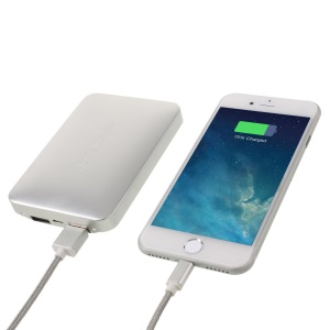 VORSON 2-port 8000mAh Power Bank for iPhone 6s Plus/Samsung Galaxy Note7 - Silver