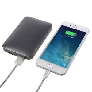 VORSON 2-port 8000mAh Portable Power Bank for iPhone 6s Plus/Samsung Galaxy Note7 - Grey