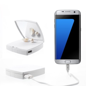 VORSON Mirror 6000mAh 2.1A Power Bank Li-polymer Battery for iPhone iPad Samsung - White
