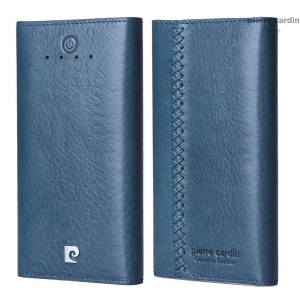 PIERRE CARDIN 10000mAh Mobile Power Bank CE/RoHS/FCC for iPhone iPad Samsung - Light Blue