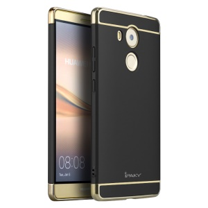 IPAKY 3-In-1 Electroplating PC Hard Protection Case for Huawei Mate 8 - Black