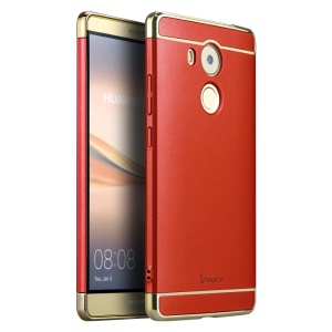 IPAKY 3-In-1 Electroplating PC Hard Back Shell for Huawei Mate 8 - Red