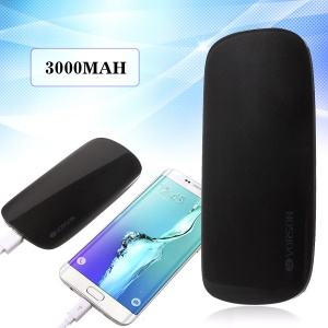 VORSON Shell II 3000mAh External Power Bank for iPhone Samsung - Black
