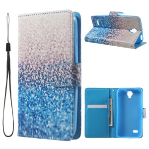Pattern Printing Leather Cover with Card Slots for  Huawei Y5 Y560 - Flash Powder