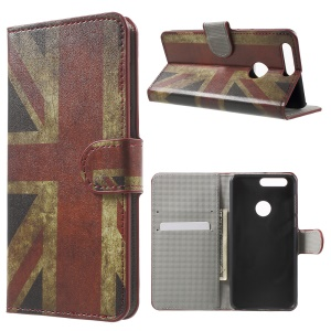 Wallet Stand Patterned Leather Case for Huawei Honor 8 - Retro Union Jack