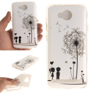 Soft IMD TPU Cover Case for Huawei Y3 II / Y3II - Dandelion and Lovers
