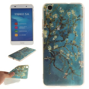 Protective IMD TPU Cover for Huawei Y6 II / Honor 5A - Almond Tree in Blossom