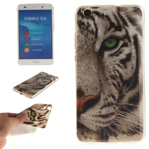 Protective IMD TPU Shell for Huawei Y6 II / Honor 5A - Angry Tiger