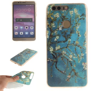 Soft IMD TPU Shell Case for Huawei Honor 8 - Tree with Flowers