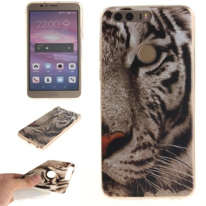 Soft IMD TPU Shell for Huawei Honor 8 - Tiger Pattern