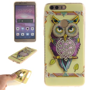 Soft IMD TPU Back Case for Huawei Honor 8 - Colorized Owl