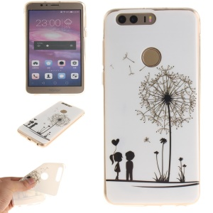 Soft IMD TPU Phone Case for Huawei Honor 8 - Dandelion and Lovers
