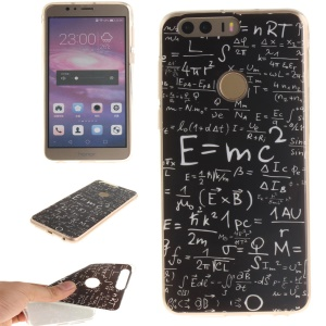 Soft IMD TPU Gel Case for Huawei Honor 8 - Mathematical Symbols
