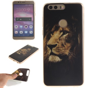 Soft IMD TPU Case Cover for Huawei Honor 8 - Lion Pattern