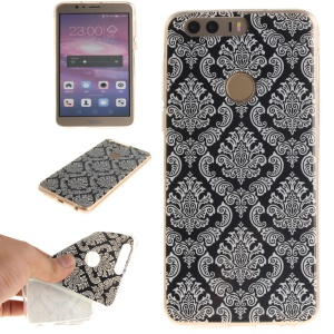 Soft IMD TPU Protective Case for Huawei Honor 8 - Damask Flowers