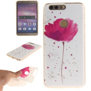 Soft IMD TPU Shell Cover Case for Huawei Honor 8 - Vivid Flowers