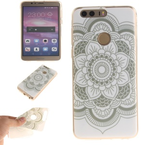 Soft IMD TPU Cover Shell for Huawei Honor 8 - Fresh Flowers