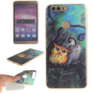 Soft IMD TPU Case for Huawei Honor 8 - Owls Pattern