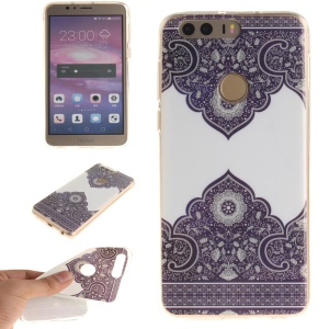 Soft IMD TPU Gel Cover for Huawei Honor 8 - Flowers Pattern