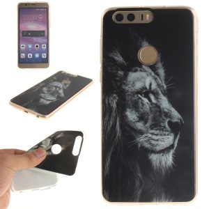 Soft IMD TPU Case for Huawei Honor 8 - Fierce Lion