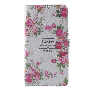 Callfree Flip Leather Protector Case for Huawei Honor 8 - Blooming Roses