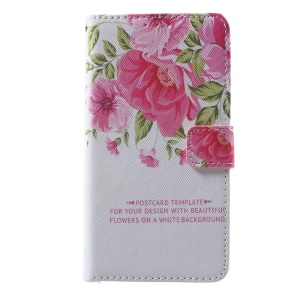 Callfree Leather Case with Card Holder for Huawei Honor 8 - Fresh Flower