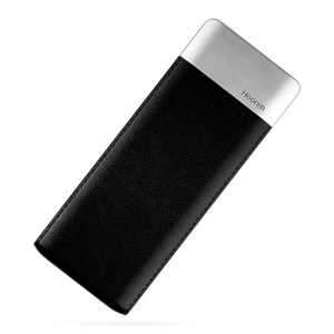 OATSBASF PU Leather Coated 6000mAh 2.1A Power Bank for iPhone Samsung HTC etc. - Black