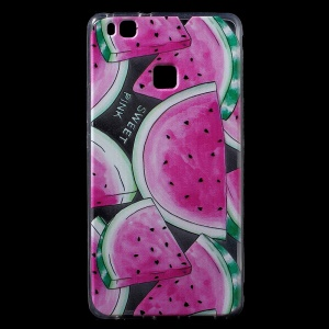 Patterned IMD TPU Gel Back Phone Cover for Huawei P9 Lite / G9 Lite -  Watermelon Pattern
