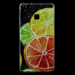 Pattern Printing IMD TPU Back Phone Shell for Huawei P9 Lite / G9 Lite - Lemon Pattern
