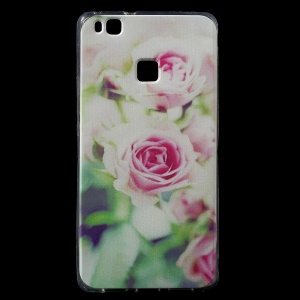 For Huawei P9 Lite / G9 Lite TPU Patterned IMD Back Phone Case - Pretty Flower