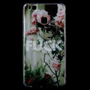 IMD TPU Pattern Printing Back Phone Cover for Huawei P9 Lite / G9 Lite - looming Flower