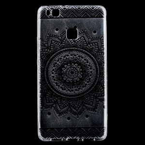 Soft  IMD TPU Gel Back Phone Shell for Huawei P9 Lite / G9 Lite - Mandala Flower