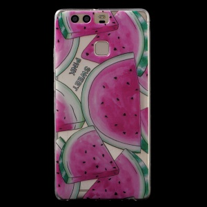Patterned IMD TPU Back Phone Case for Huawei P9 - Watermelon Pattern