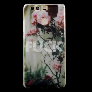 IMD Patterned TPU Gel Back Phone Shell for Huawei P9 - Blooming Flower