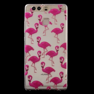 Patterned IMD TPU Soft Back Phone Cover for Huawei P9 - Birds
