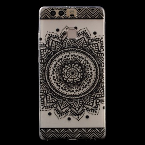 Patterned IMD TPU Gel Back Cover for Huawei P9 -  Mandala Flower