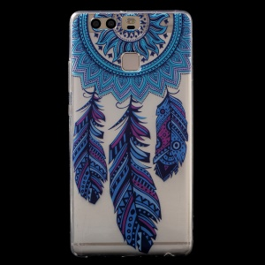 Patterned IMD TPU Case Protector for Huawei P9 - Feather Dream Catcher