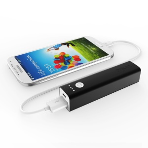 VINSIC Tulip 3200mAh Mini Portable Power Bank for iPhone Samsung Sony - Black