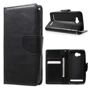 Protective Wallet Stand Leather Case for Huawei Huawei Y3II / Y3 II - Black