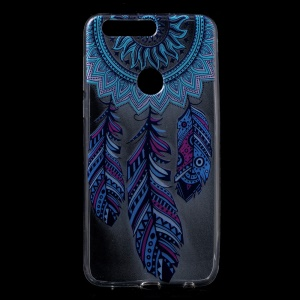 TPU Gel Patterned Back Cover for Huawei Honor 8 - Feather Dream Catcher