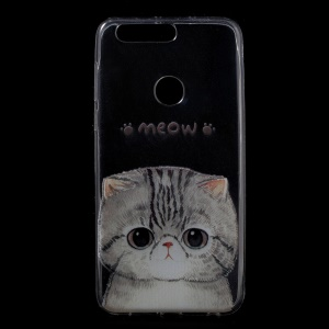 Patterned TPU Gel Back Cover for Huawei Honor 8 - Adorable Cat
