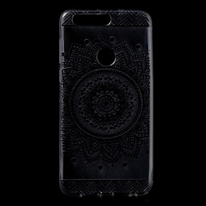 Pattern Printing TPU Soft Back Case for Huawei Honor 8 - Mandala Flower