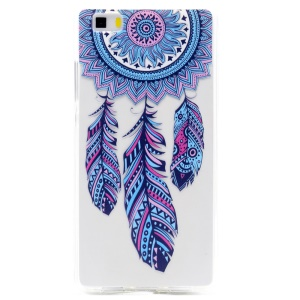 Soft TPU Patterned Case Cover for Huawei Ascend P8 Lite - Tribal Dream Catcher