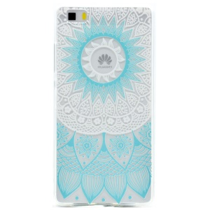 Patterned TPU Skin Case Cover for Huawei Ascend P8 Lite - Henna Flower