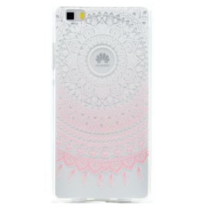 Patterned TPU Case Protector for Huawei Ascend P8 Lite - Mandala Flower